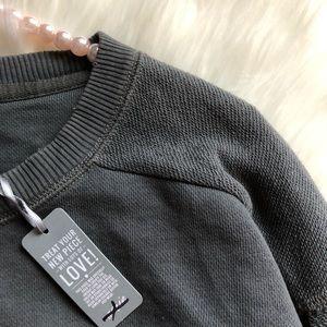 aerie Sweaters - 💕NWT Aerie Dark Gray Oversized Crew Sweater